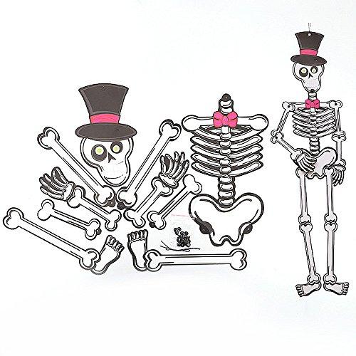 NNCTA Halloween Paper DIY Pendant 3D Skeleton Zombie Vampire Ornament -