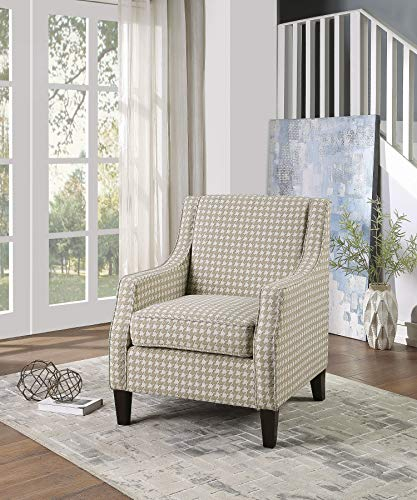 Farmhouse Accent Chairs Lexicon Linen Accent Chair, Khaki farmhouse accent chairs