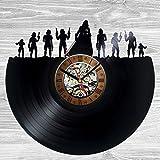 Star Wars Characters Favorite Wall Clock Decor Vintage Black Vinyl Gift Room Wedding Party