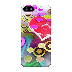Dny2802cZxg Tpu Phone Case With Fashionable Look For Iphone 5/5s - Heart Abstract