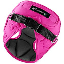 Easy to Put on and Take off Small Dog Harnesses Our small Dog Harness Vest has padded Interior and Exterior Cushioning Ensuring your Dog is Snug and Comfortable ! (X-Small, Pink)