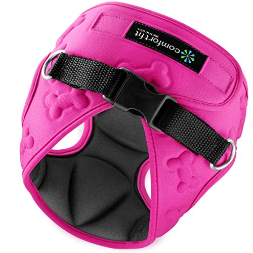(Easy to Put on and Take off Small Dog Harnesses Our small Dog Harness Vest has padded Interior and Exterior Cushioning Ensuring your Dog is Snug and Comfortable ! (Medium, Pink))
