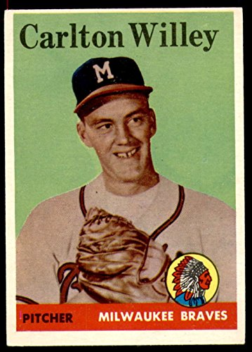 Baseball Mlb 1958 Topps  407 Carl Willey Excellent Rc Rookie Braves