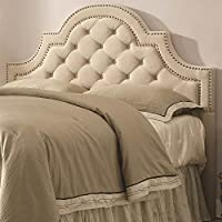 Upholstered Headboard with Button Tufting (Queen - 63 in. W x 3.5 in. D x 53 in. H)