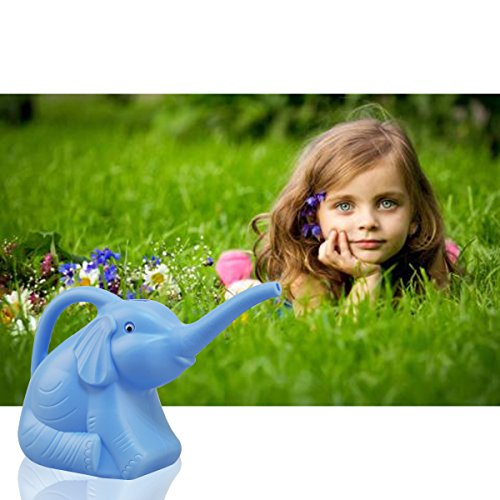 Garden Watering Can Elephant Kids Children Toy Plastic Blue (Blue)