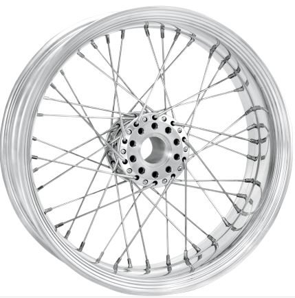 Merc Wire Front Chrome - RC Components Merc Wire Chrome Front Wheel 21X2.15 W/O ABS (12406103RMRCCH)