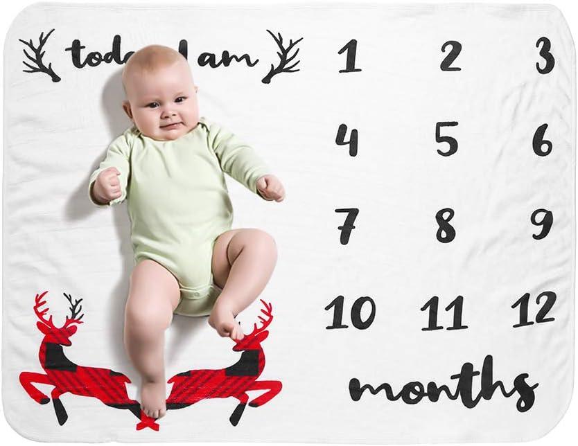 Decdeal Bebé Manta Mensual Hito Franela como Fondo Fotográfico para Bebé Recién Nacido con Estampado Floral 28 * 40 (Tipo 8)