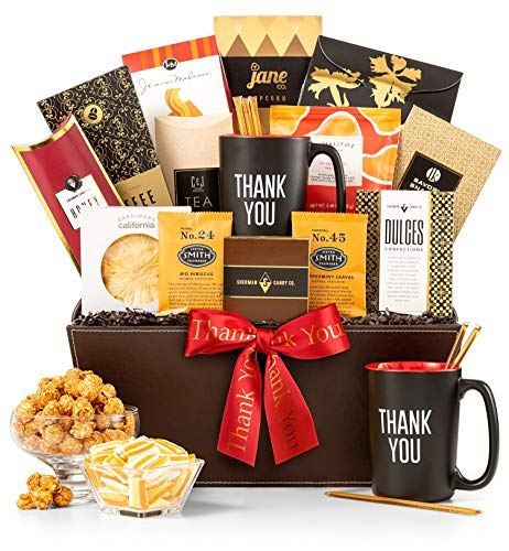 Australia Wine Kosher - GiftTree A Thousand Thanks Gift Basket | Thank You Mug Included | Honey Sticks, Almond Biscotti, Peanut Brittle, Steven Smith Tea, Ghirardelli Hot Cocoa and More | Show Appreciation to a Friend, Clien