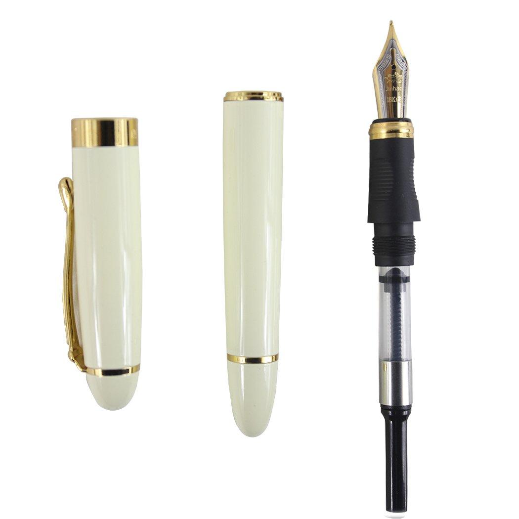 blanche Gullor moyen plume fine lisse stylo plume 450 originale pochette stylo et cartouche dencre