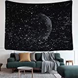 """Tapestry Wall Hanging Tapestries Wall Blanket Wall Art Wall Decor Astrology Galaxy Starry Night Sky Bohemian Beach Indian Wall Decor for Bedroom Living Room Dorm(59.1"""" x 51.2"""", Moon Constellations)"""