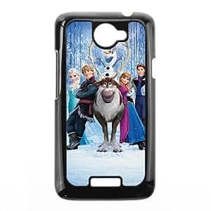 HTC One X Black phone case Fashion colorful art Frozen Disney Cartoon Elsa and Anna DSY0653755