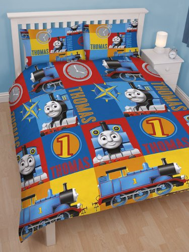 Thomas the Tank Engine  Power  Double Rotary Duvet and Pillowcase Set   Amazon co uk  Kitchen   Home. Thomas the Tank Engine  Power  Double Rotary Duvet and Pillowcase