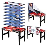 Hyner 14 in 1 Multi Game Table for kids Billiards Basketball Table Tennis Hockey Backgammon Bowling Chess