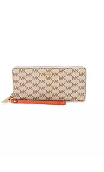 e53baaecf1c3 Image Unavailable. Image not available for. Color: Michael Kors Studio Logo  Print Continental Wallet