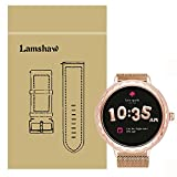 Lamshaw Band for Kate Spade Scallop Band, Quick Release Milanese Metal Stainless Steel Mesh Replacement Strap for Kate Spade Scallop Touchscreen Smartwatch (Rose Gold)