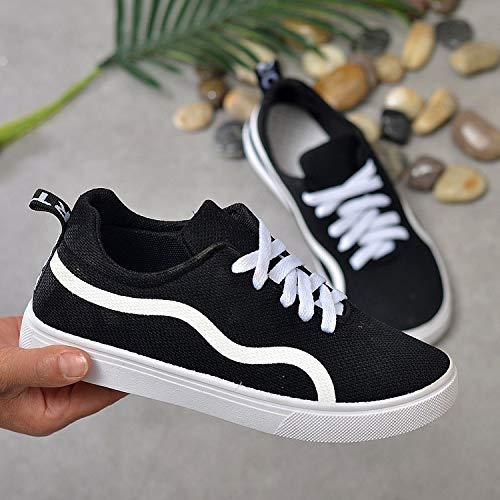 Canvas Students Low Shoes Women's Hasag New de Deporte Shoes Shoes Help black To Zapatillas qYwISz1