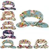 Baby Girl Headband Bunny Ears Floral Girls' Head Wrap Turban Baby Headband 8 Pcs