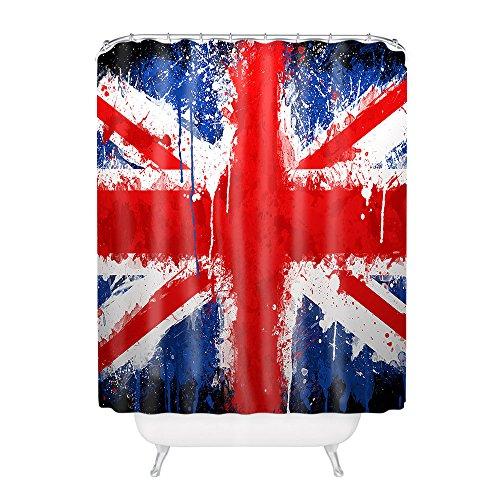 British Flag United Kingdom Union Jack Flag Polyester Fabric Bathroom Shower Curtain 60*72Inch (Union Jack Shower Curtain compare prices)