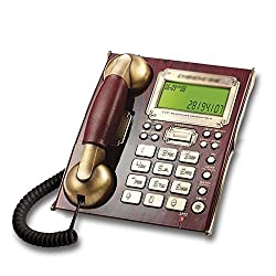 Landline Telephone European retro home Business office Wall-mounted voice dialing machine 21417688mm (Color : Red)