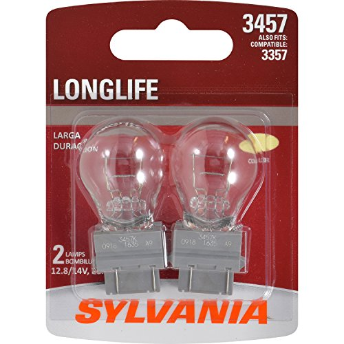 SYLVANIA 3357/3457 Long Life Miniature Bulb, (Contains 2 Bulbs)