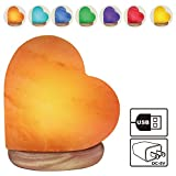 Himalayan Glow 944AC USB Heart Salt Lamp, Multicolor Night Light, Best Home Decor by WBM