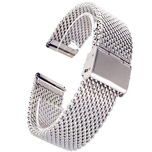f8ca51f805 (ドノロロジオ)DonOrologio 腕時計 交換 用 18mm ベルト ステンレス ミラネーゼ 直カン ワイヤーメッシュ バンド
