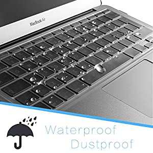 "JRCMAX Keyboard Cover, Premium Ultra Thin Keyboard Protector for Newest Macbook Pro 13"" 15"" with Touch Bar (Model:A1706 / A1707) 2017/2016 (13/15 TouchBar)"