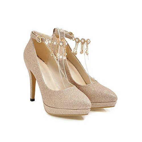 871d53fa4 Wanson Tacones Altos Lentejuelas Mujer Sexy Boca Baja Puntiaguda Tacones De  Tacón De Aguja Sandalias Zapatos De Dama De Honor ...