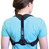 Orthopedic Posture Corrector - Men & Women - Comfortable and Adjustable Brace to Align Your slouching Shoulders – Reduce Stress on Back and Neck - Breathable Material - Wearable Under Shirt