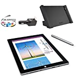 Microsoft Surface 3 Bundle - 5 Items: 64GB Wi-Fi Only Quard-Core 10.8-Inch Tablet, Original Pen, Surface Dock, Silicon Power 32GB Elite microSDHC Card and 2-in-1 Travel Charger