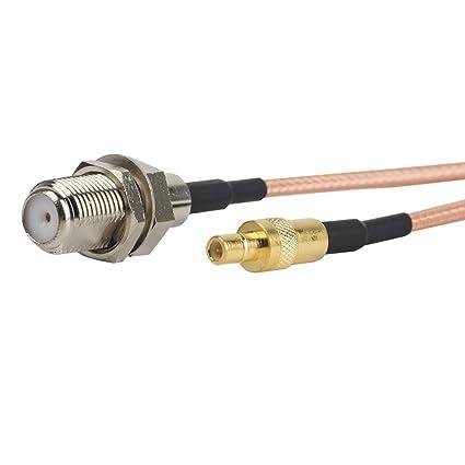 2pcs 6 inch/0.5FT/15 cm RF coaxial cable coaxial adaptador Asamblea –