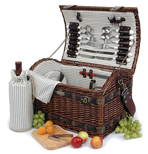 (Willow & Seagrass Picnic Basket)