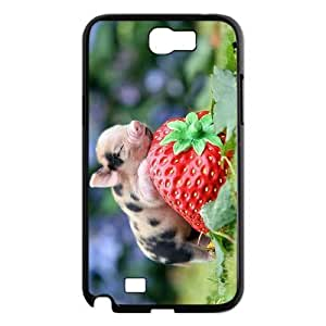 LZHCASE Diy Design Back Case Pig for Samsung Galaxy Note 2 N7100 [Pattern-1]
