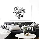 Where Can You Get Emoji Stickers Warm Family Home Sweet Home Modern Canvas Painting Wall Art Home is Where The Heart is Quote Hand Written Style Monochrome Design Art Stickers 32
