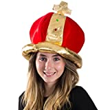 Best Funny Party Hats Costumes - Plush Royal King's Crown - Costume Accessory Review
