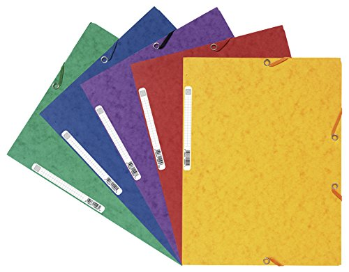 Europa 4750Z Portfolio File Elasticated 3-Flap 500 Micron Foolscap - Assorted A, Pack of 10