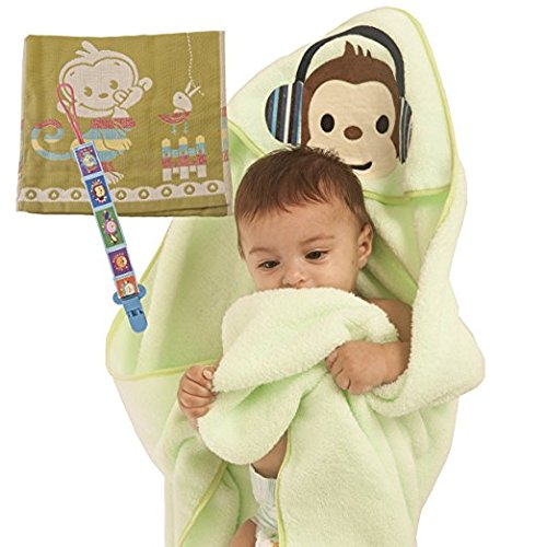 Baby Hooded Towel for Boys & Girls: Perfect Baby Shower Gift Set Ultra Soft Absorbent,100% Cotton, Newborn & Toddler Wrap. Light Green Color.