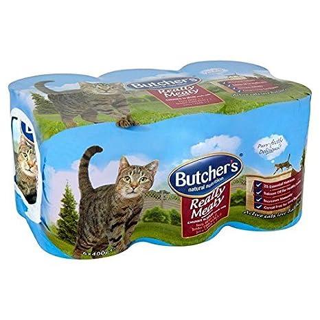 Puños para carne de gato de carnicero en gelatina de 6 x 400 g ...