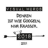 Visual Words 2018: aufstellbarer Wochen-Postkartenkalender