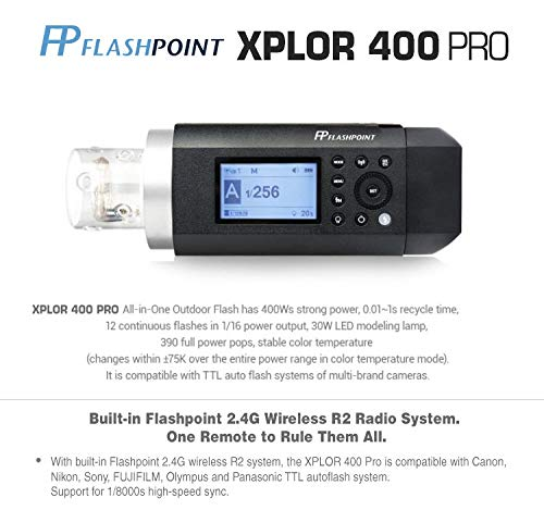 Flashpoint XPLOR 400PRO TTL Battery-Powered Monolight with Built-in R2 2.4GHz Radio Remote System (with Bowens Mount Adapter) - Godox AD400 Pro by Flashpoint (Image #9)