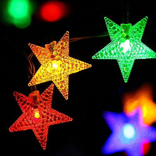 solar outdoor christmas string lights by apexpower 8 modes 30 import it all. Black Bedroom Furniture Sets. Home Design Ideas