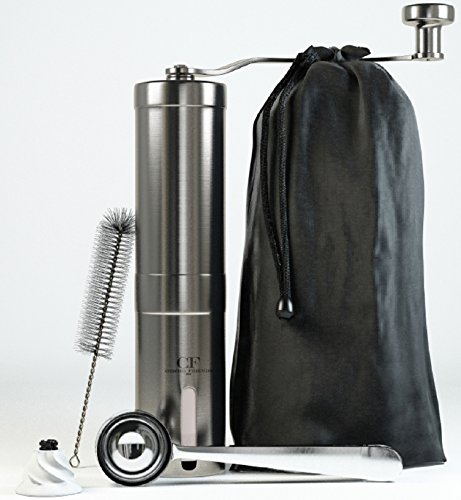 Manual Coffee Grinder Mill Roasting for Coffee Beans - Great Turkish Coffee & Espresso Hand Coffee Maker - Made From Stainless Steel & Ceramic Burr - French Press Style & Aeropress Compatible (Coffee Mill Kit compare prices)