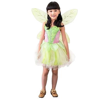 Tinkerbell Fairy Girls Disney Fancy Dress Fairies Costume Child Kids  sc 1 st  Amazon UK & Tinkerbell Fairy Girls Disney Fancy Dress Fairies Costume Child Kids ...