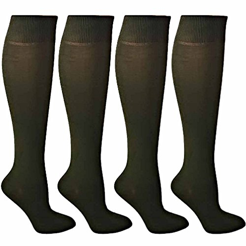 Deep Olive Green Knee High Socks