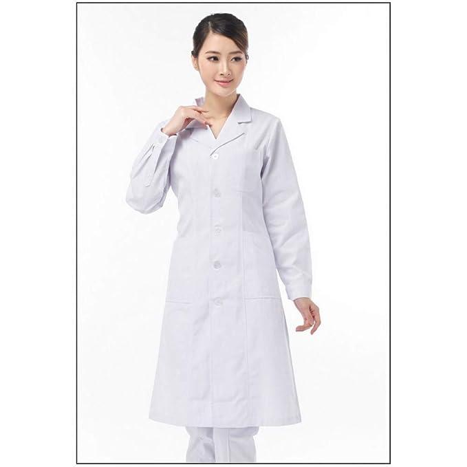 399fe7d843d ESENHUANG Unisex White Medical Coat Clothing Medical Services Uniform Nurse  Clothing Long-Sleeve Polyester Protect