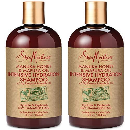 Shea Moisture Manuka Honey and Mafura Oil Intensive Hydration Shampoo 13 oz Pack of 2