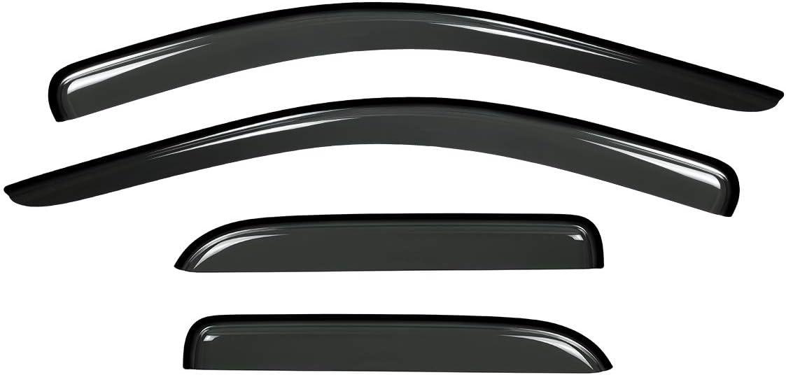 HANSCOSTAR 4pcs Guard Vent Window Visors Fit 2002-2008 Dodge Ram 1500 2003-2009 Dodge Ram 2500