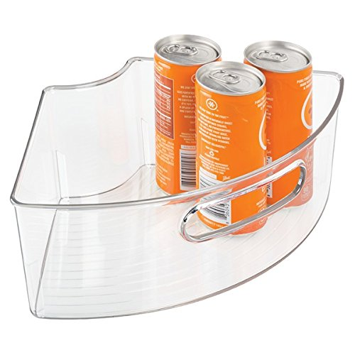 Kitchen Storage Bins: MDesign Lazy Susan Storage Bins With Handle For Kitchen
