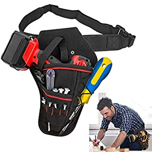 Heavy-Duty Drill Holster Tool Belts Electrician Drill Holder Belt Waist Bags Hanging Tools Pouch Multi-Pockets Organiser…