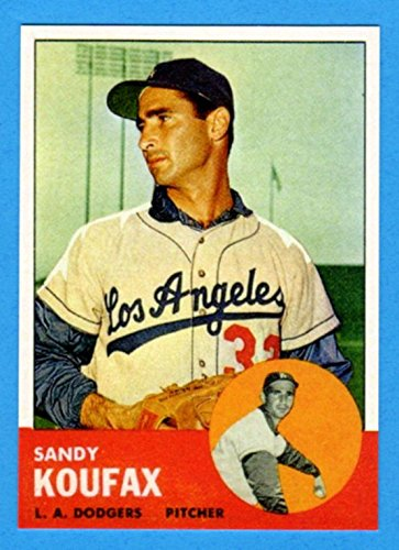 Sandy Koufax Memorabilia - Sandy Koufax 1963 Topps Baseball Reprint Card (Dodgers)